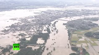 Massive floods in Japan: Houses washed away, helicopters rescue residents