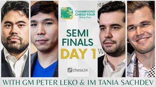 $1.5m Champions Chess Tour: Skilling Open | SF Day 1 | Live commentary by Peter Leko & Tania Sachdev