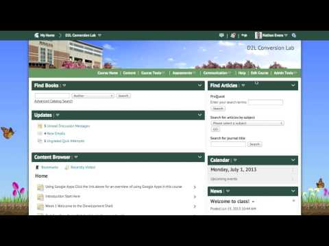 Activating a Course in D2L