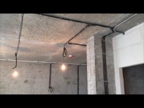 Электрика в двухэтажной квартире до штукатурки. Электрика в новостройке. Электрик Киев.