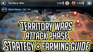 Territory Wars Attack Phase Strategy and Farming Guide! | Star Wars: Galaxy of Heroes