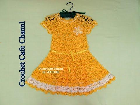 b6d26a6849e1a كروشيه فستان صيفي سهل  كروشيه كافيه Crochet Cafe Channel - YouTube