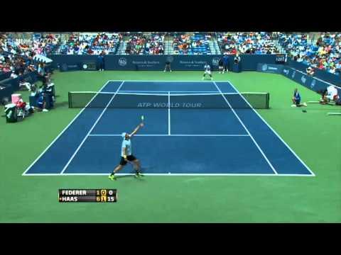 Roger Federer vs Tommy Haas 2013 Cincinnati Round 3 Highlights