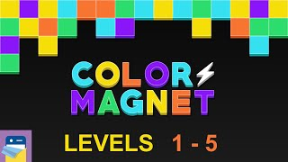 Color Magnet: Puzzle Levels 1 2 3 4 5 Walkthrough & Solutions & iOS Gameplay  (by The One Pixel)