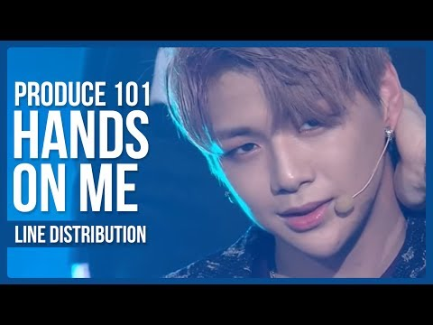 PRODUCE 101 - Hands On Me Line Distribution (Color Coded)