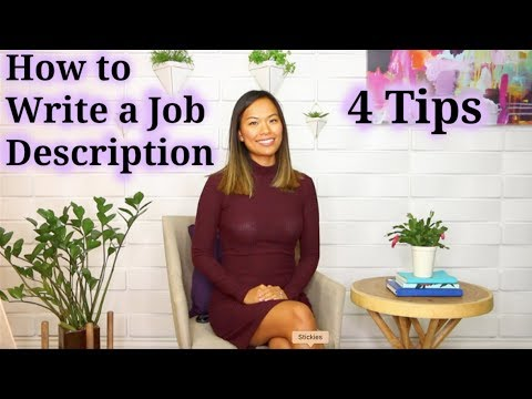 How to Write a Job Description - How to Recruit a Good Job Candidate (1 of 5)