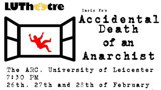 accidental death of an anarchist dario The elements of farce in the accidental death of an anarchist by dario fo commedia dell'arte known as italian comedy it began in the 16th century performed by mainly street performers.