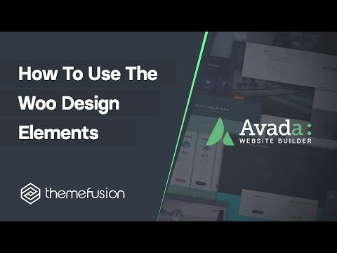 How To Use The Woo Design Elements Video