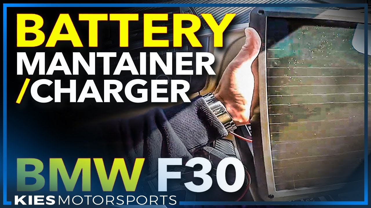 Using a SOLAR Battery Maintainer and Battery Charger on an F30 BMW 328i