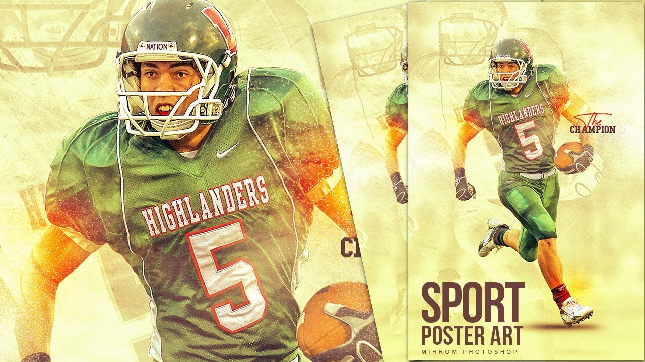 create a sport poster art in photoshop cc youtube