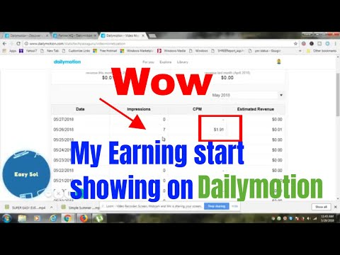 My Dailymotion Earning with Proof Let's Try You can Also Earn