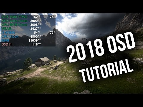 How to setup MSI Afterburner OSD | New 2018 Layout Tutorial