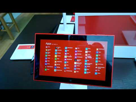 Nokia Lumia 2520 4G LTE Tablet With Windows RT 8.1 Hand-on 11-29-13