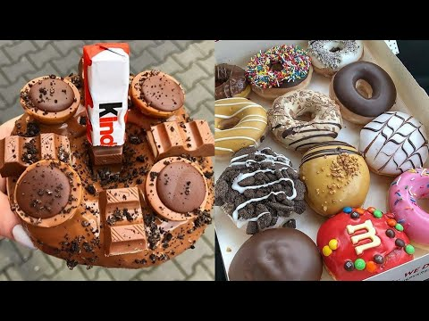 Amazing Kinder & Nutella Donuts Cake Decorating Ideas | Stunning & Delicious KitKat Food Compilation
