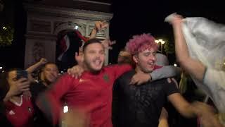 CAN2019 - Algérie en finale : fête et incidents (14 juillet 2019, Champs-Élysées, Paris)