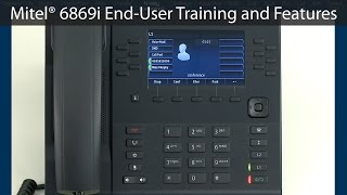 mitel 6869 end user training features tutorial featuring n way conference