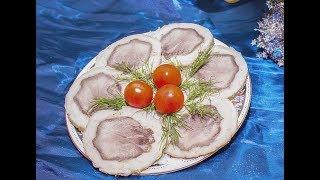 Рулет из свинины и языка на праздничный стол.