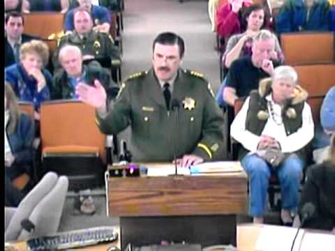 Sheriff Lays Down the Law for El Dorado County Board of Supervisors.