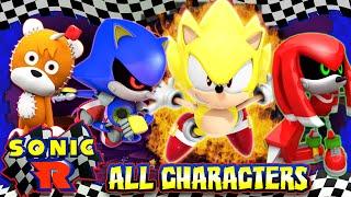 Sonic R - (HD) ALL SECRET CHARACTERS UNLOCKED 100%