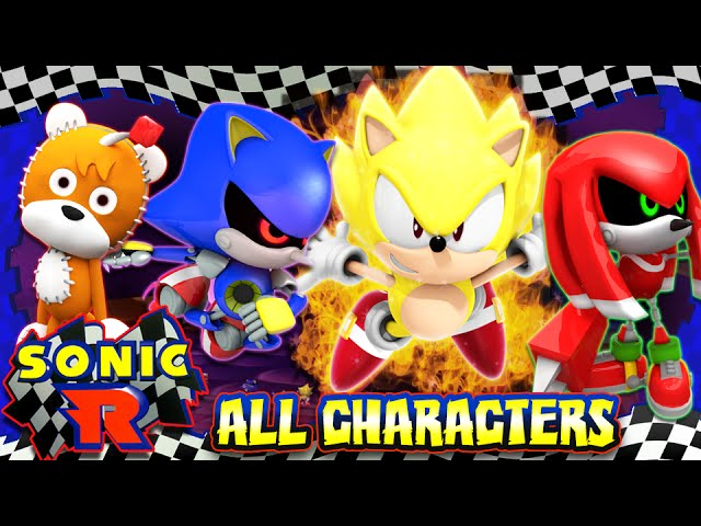 Sonic R - (HD) ALL SECRET CHARACTERS UNLOCKED 100%