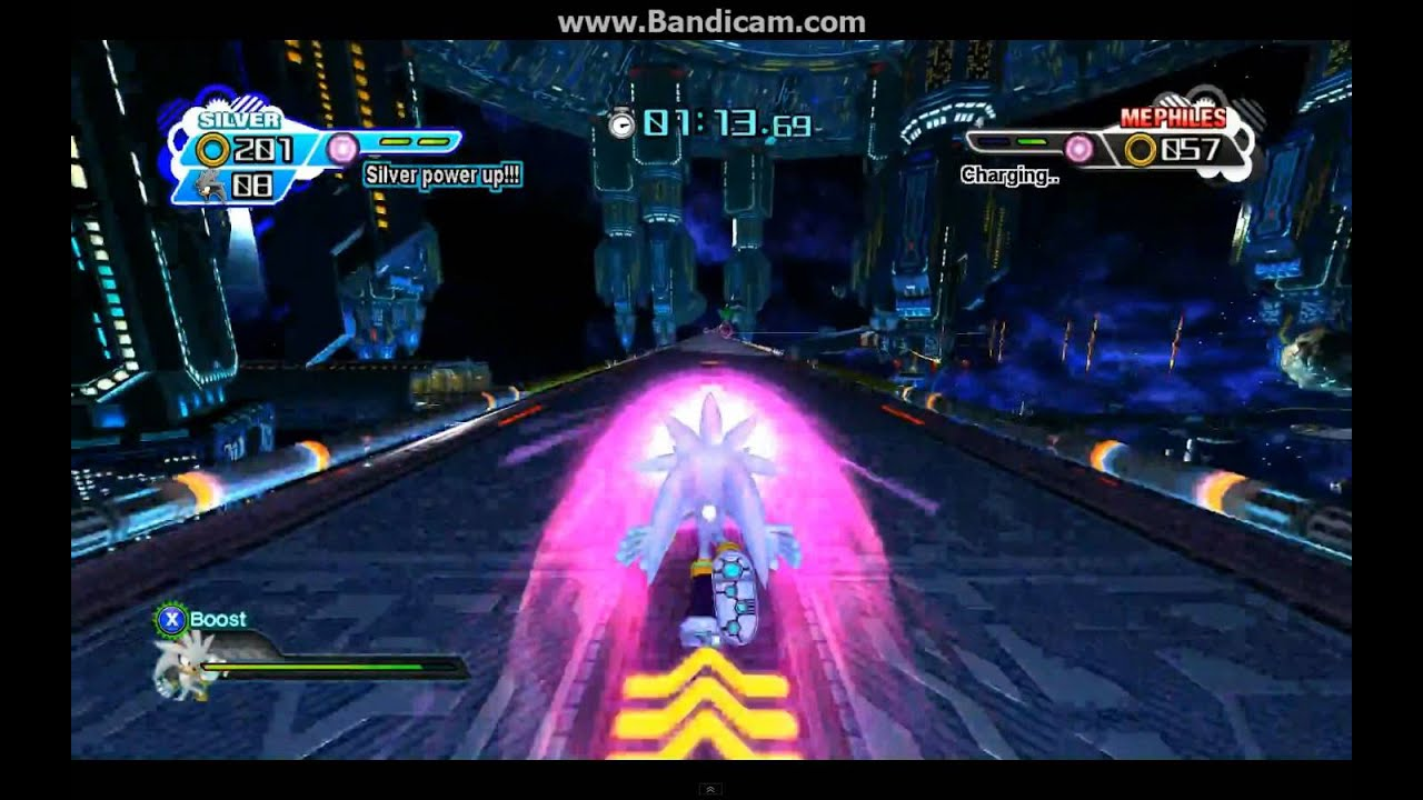 Sonic Generations Silver Vs Mephiles Crystal Rematch