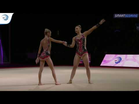 Anastasia IVANOVA & Maria MISTIUKOVA (RUS) - 2019 Junior Europeans, All-around Final
