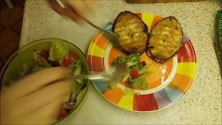 Легкий ужин Масленая рыба на гриль сковороде Овощной салат