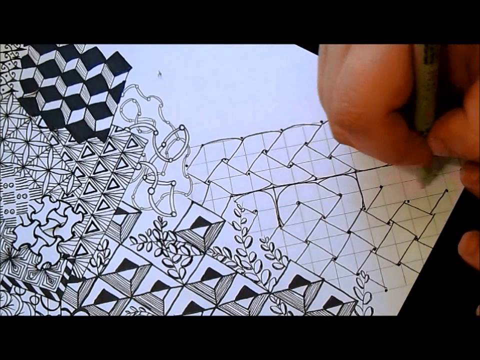 Intricate Color Tangle - YouTube