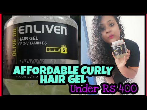 ENLIVEN HAIR GEL REVIEW   AFFORDABLE CG FRIENDLY HAIR GEL IN INDIA