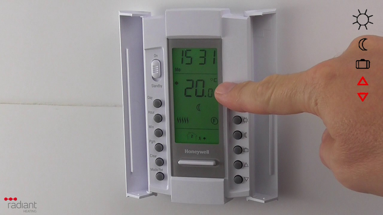 honeywell th115 thermostat setup instructions youtube rh youtube com Electric Heat Thermostat Honeywell Thermostat