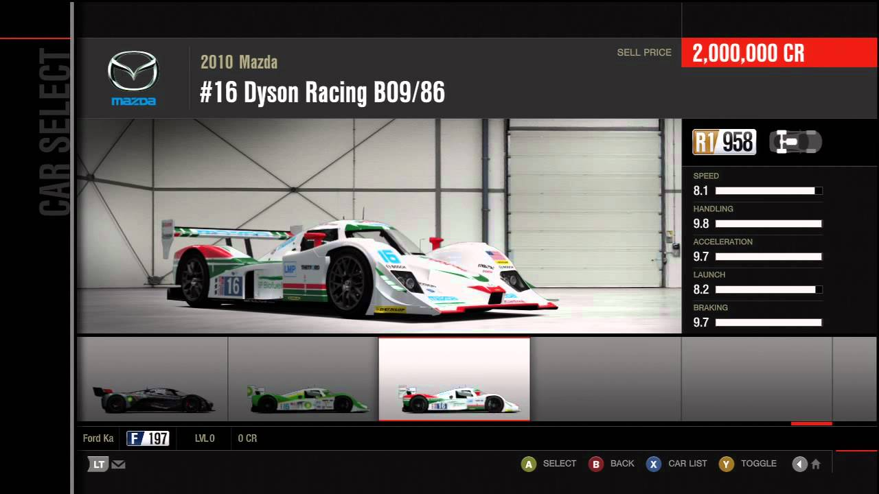 Forza Motorsport 4 Full Car List (In Game) - YouTube