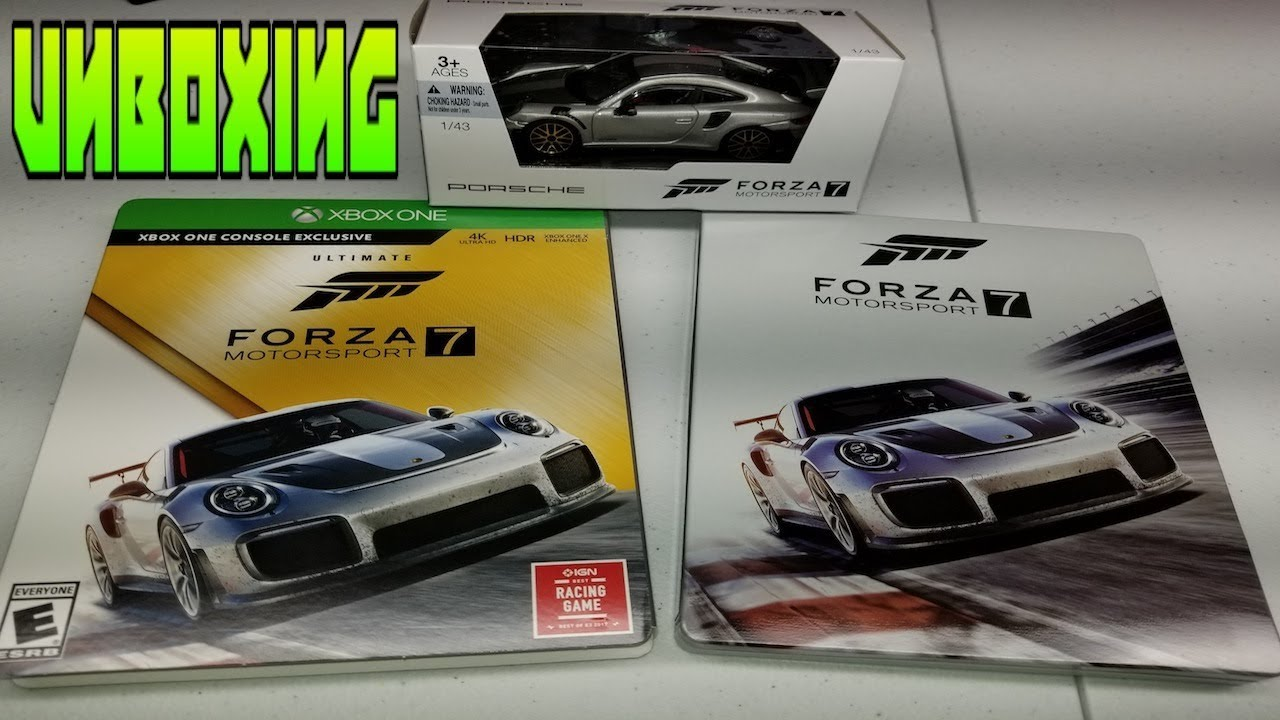 forza motorsport 7 ultimate edition unboxing diecast 1080 hd youtube. Black Bedroom Furniture Sets. Home Design Ideas
