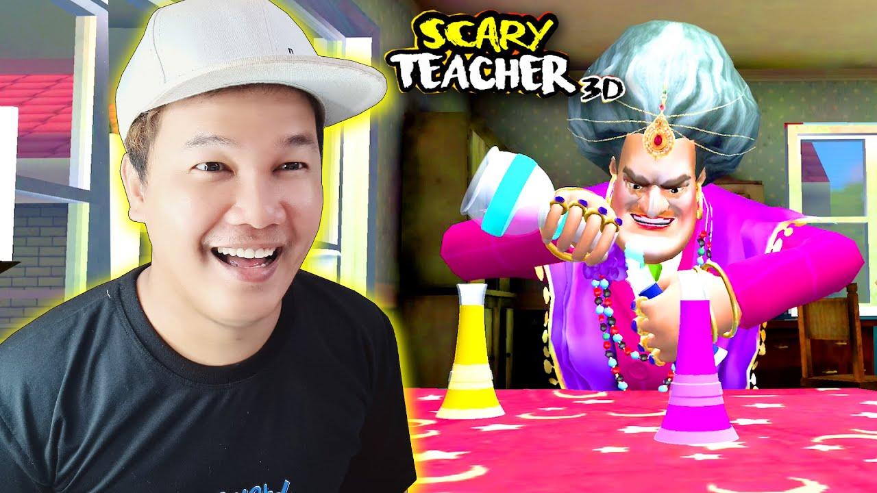 វគ្គថ្មីនេះអ្នកគ្រូធីជាមេធ្មប់ដាក់ស្នេហ៍😱 - Scary Teacher 3D Part 13 New Update Cambodia (Khmer)