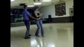 Jenny partner dancing West Coast Swing - Total Blast!
