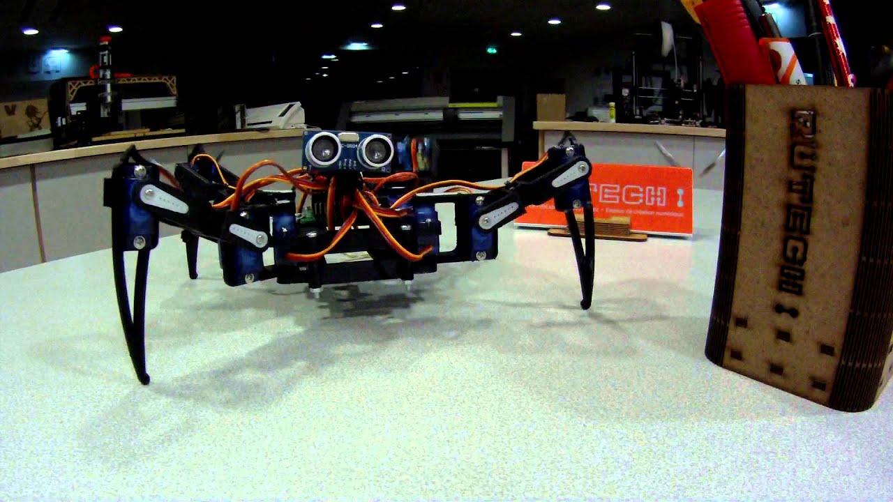 Fablab rutech quadruped robot arduino youtube