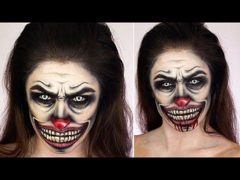 Creepy Clown Face Paint | Halloween Make up Tutorial