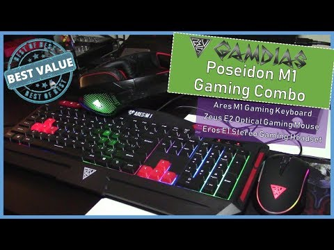 Best Price Gaming Keyboard and Mouse (Gamdias Poseidon M1 Gaming Combo)