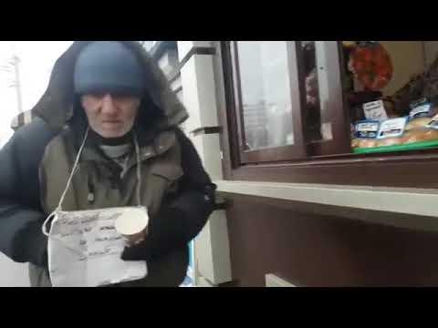 Дед Стесняшка Добрые дела для доброго Деда Сашы  Купил еды бездомному