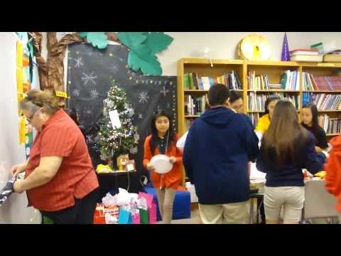 Alief Middle School students' X'mas Party_2013