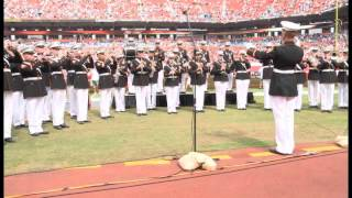 Parris Island Marine Band - National Anthem @ Miami Dolphins Football Game