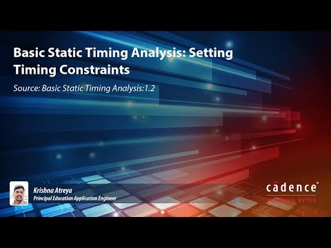 Basic Static Timing Analysis: Setting Timing Constraints