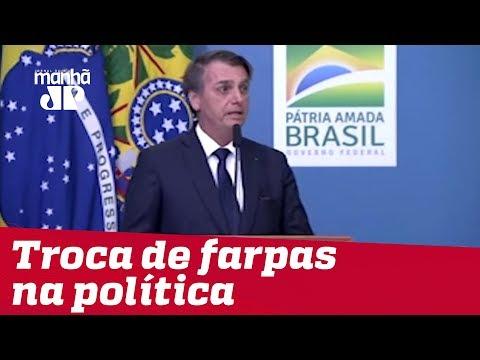 Bolsonaro critica políticos e depois acena ao Congresso