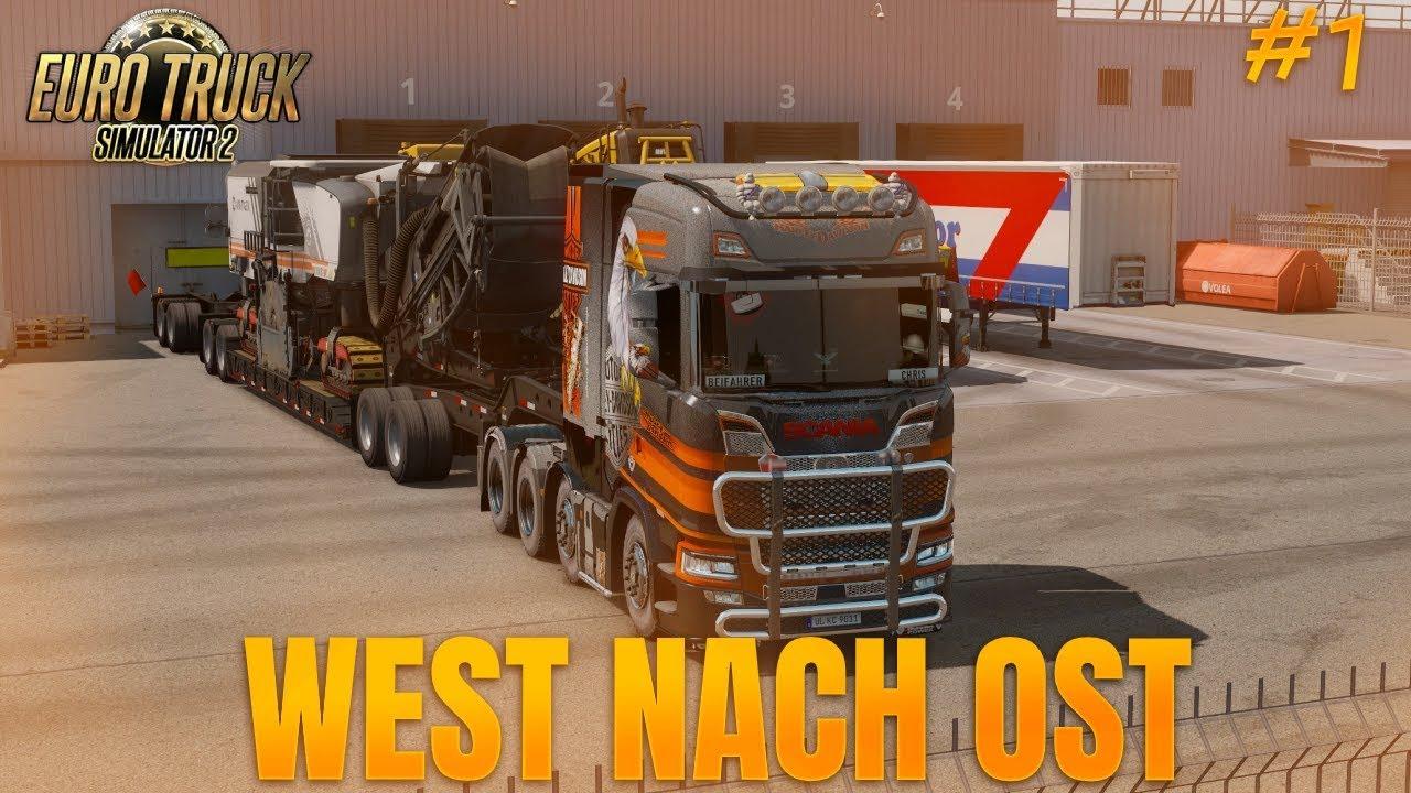[DE/ENG] [🔴LIVE] - WEST NACH OST [#1] Euro Truck Simulator 2 | PoV | Headtracking