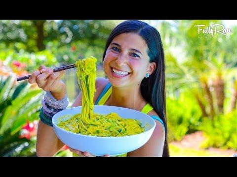 FullyRaw Mango Avocado Noodle Salad!