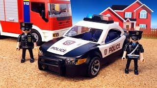 PLAYMOBIL Полицейская машинка Пожарная машинка и Скорая помощь РАСПАКОВКА Игрушки для детей Toy Cars