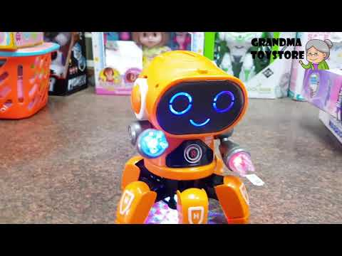 unboxing-toys-review/demos---fun-orange-octopus-robot-dancing