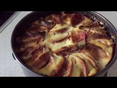 Пирог рецепт/Овсяный пирог с яблоком без муки и сахара!!Быстро и просто!!Диетический !!