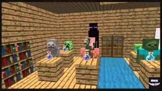 Minecraft Escola Monstro #11 : Química Experiência Em Corpo - Minecraft Animação Engraçado 2016