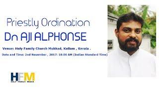 Gambar cover HOLY FAMILY CHURCH MUKKAD LIVE STREAM PRIESTLY ORDINATION of Dn. AJI ALPHONSE