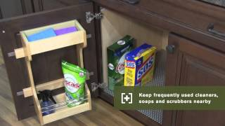 Schuler Cabinetry: Installed Sink Base Door Organizer, Kitchen Storage Part 5